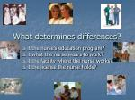 what determines differences