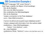 db connection example 2