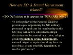 how are eo sexual harassment related