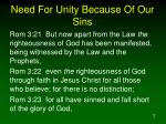 need for unity because of our sins7
