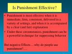 is punishment effective