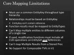 core mapping limitations