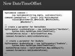 new datetimeoffset