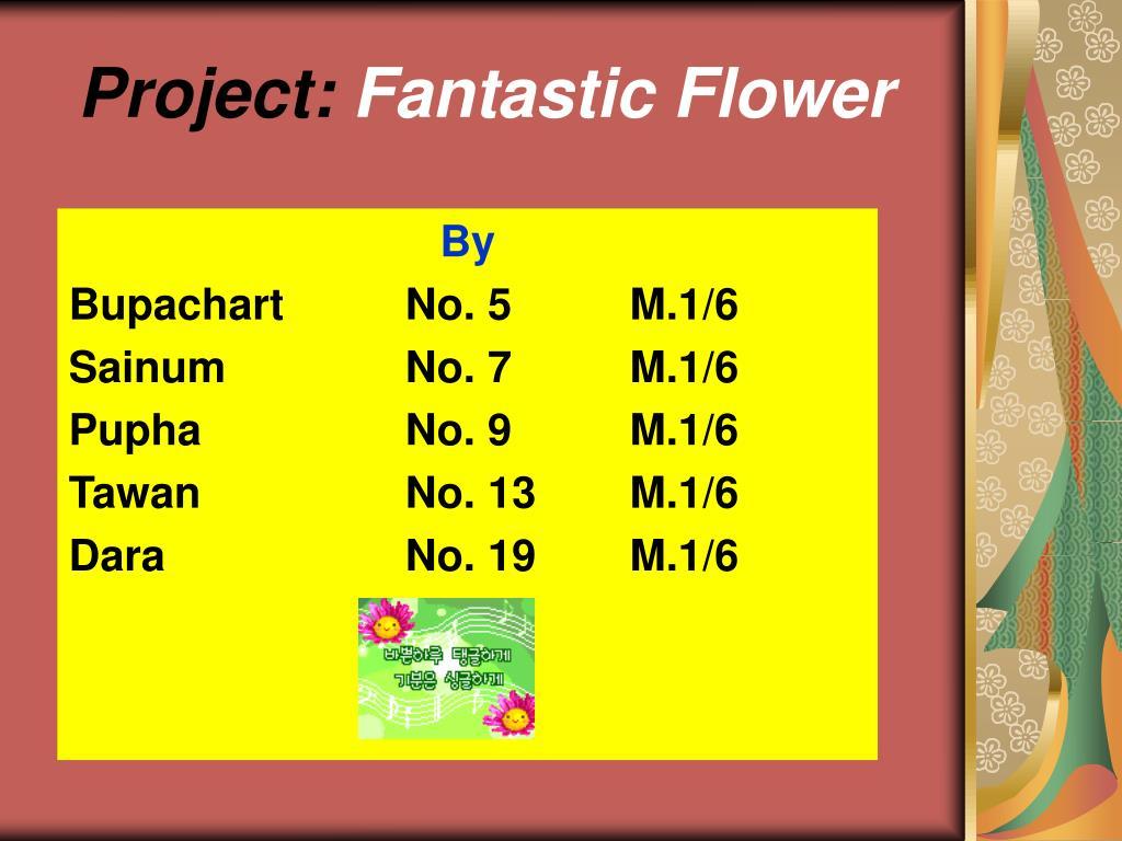 project fantastic flower l.