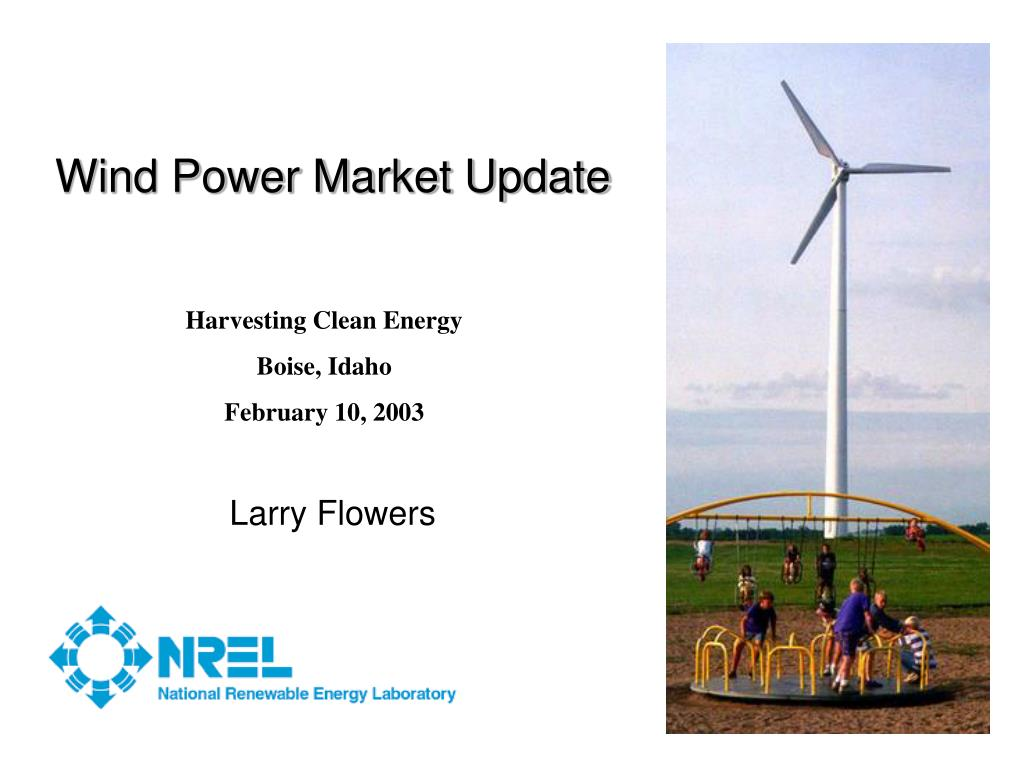 wind power market update l.