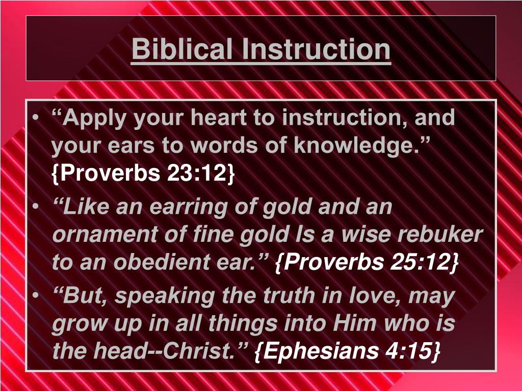 Biblical Instruction
