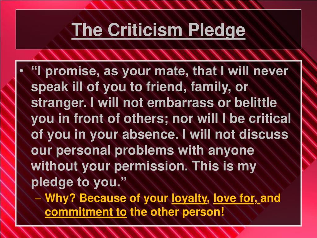The Criticism Pledge