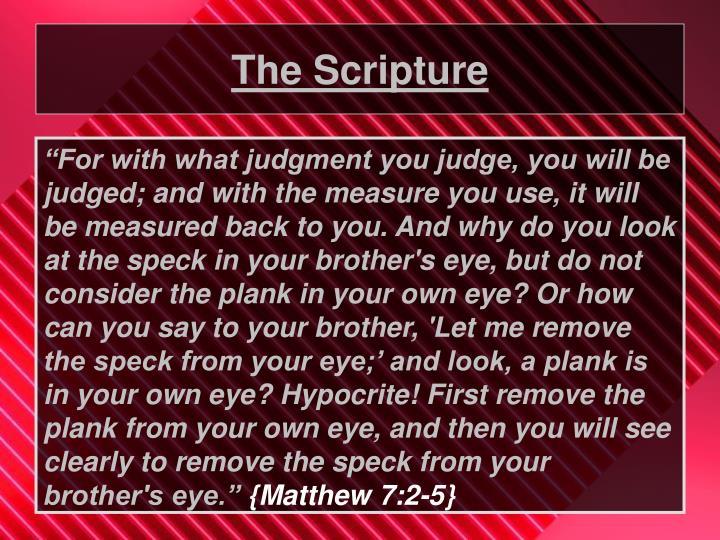 The scripture