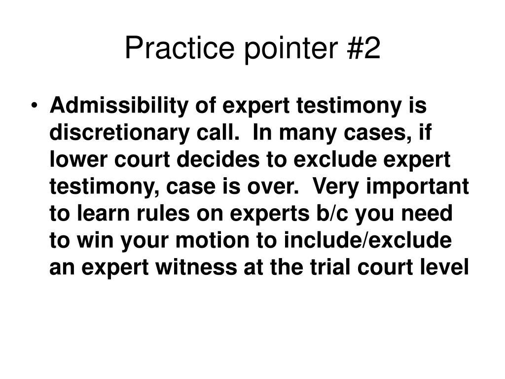Practice pointer #2