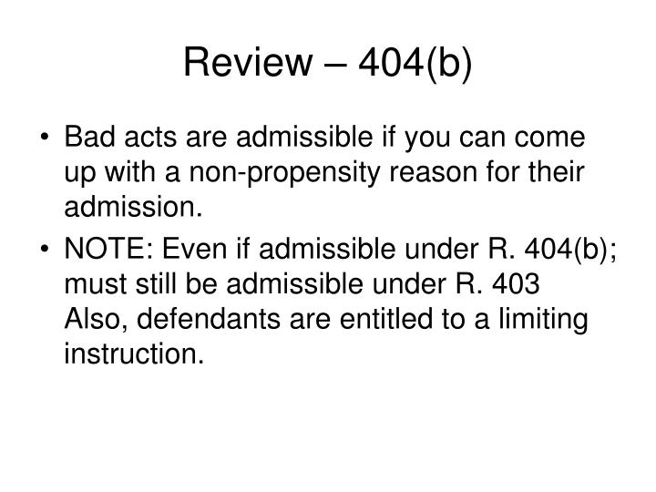 Review 404 b