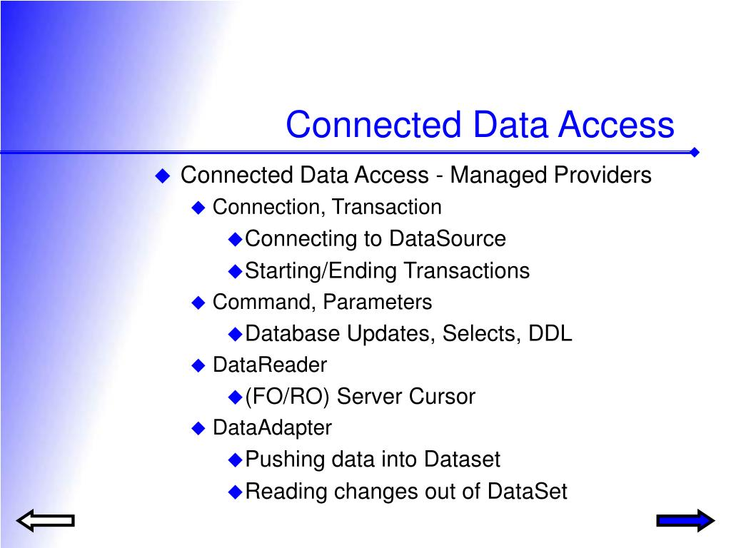 Connected Data Access