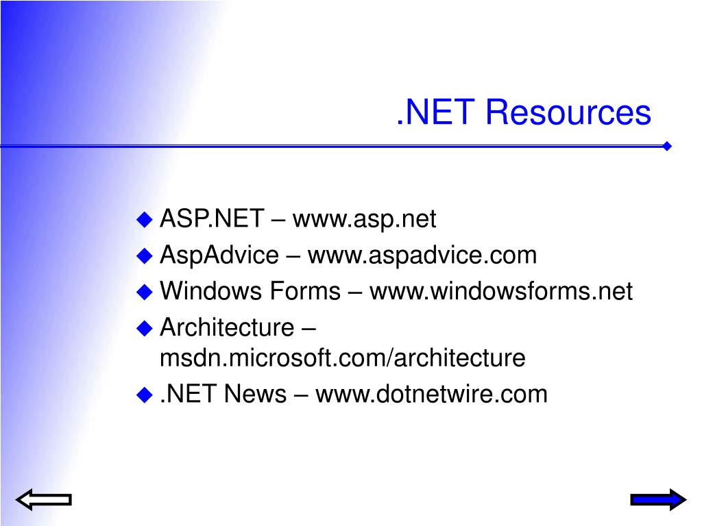 .NET Resources