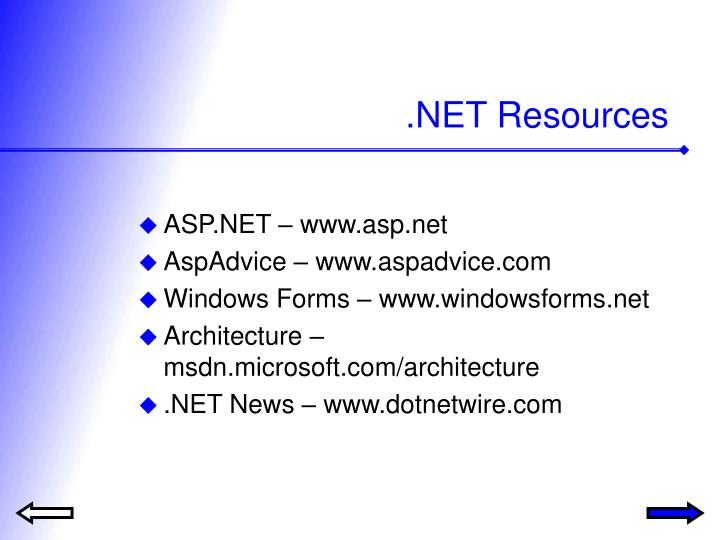 Net resources