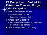 er exceptions fruit of the poisonous tree and purged taint exception