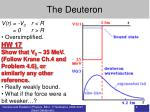 the deuteron2