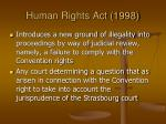 human rights act 199842