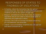 responses of states to findings of violations