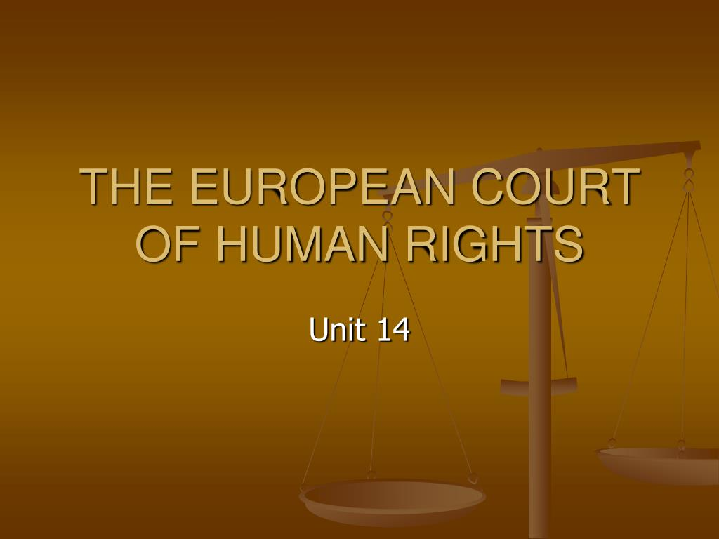 the european court of human rights l.