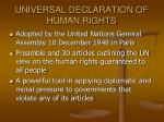 universal declaration of human rights