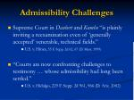 admissibility challenges