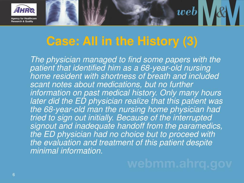 Case: All in the History (3)