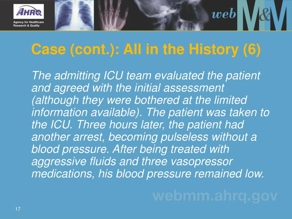 Case (cont.): All in the History (6)