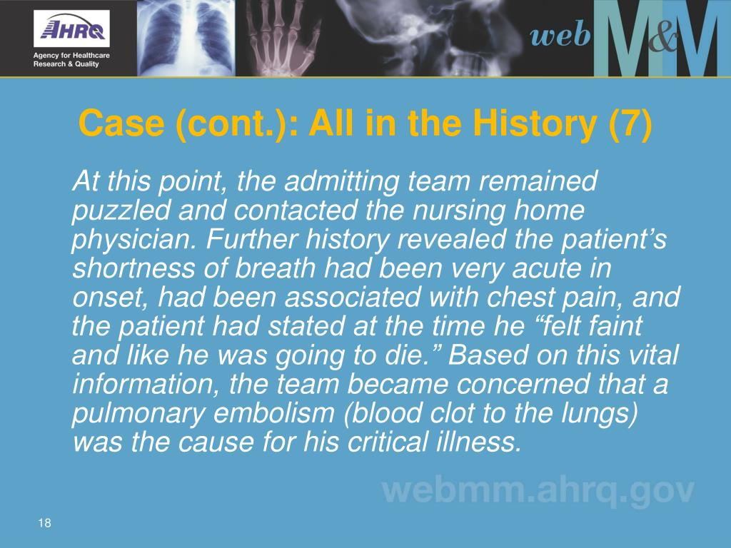 Case (cont.): All in the History (7)