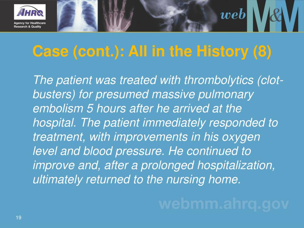 Case (cont.): All in the History (8)