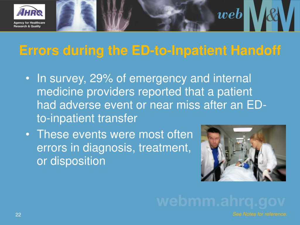 Errors during the ED-to-Inpatient Handoff