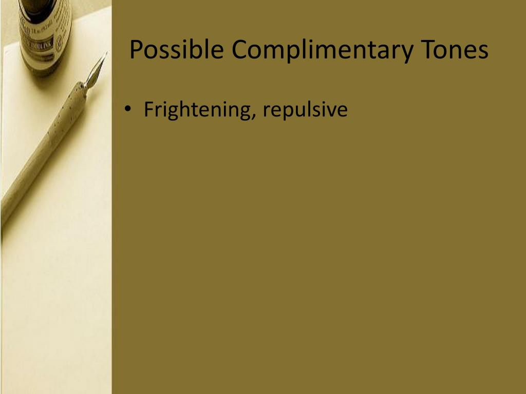 Possible Complimentary Tones