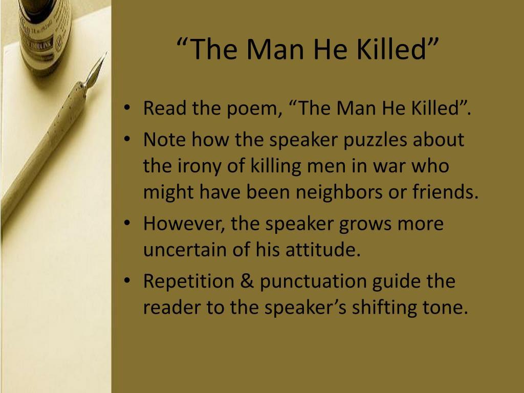 """The Man He Killed"""