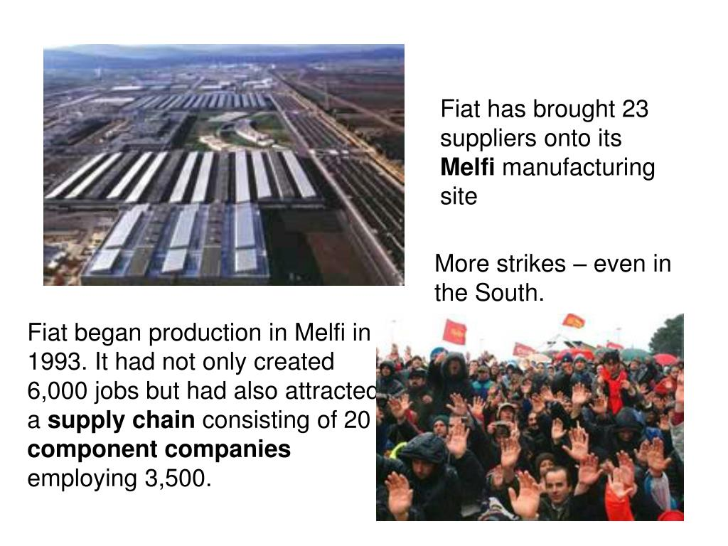 Fiat has brought 23 suppliers onto its