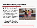 partner stunts pyramids
