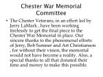 chester war memorial committee