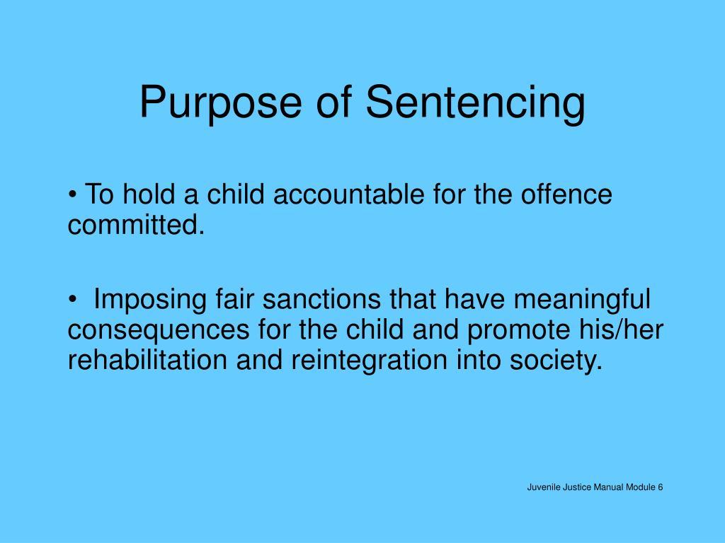 purpose of sentencing l.