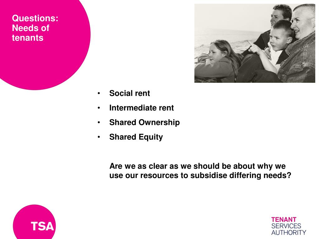 Questions: Needs of tenants