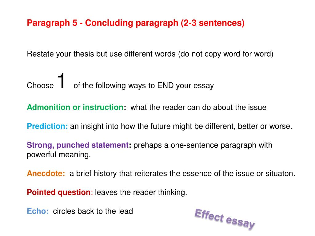 ways to end your essay