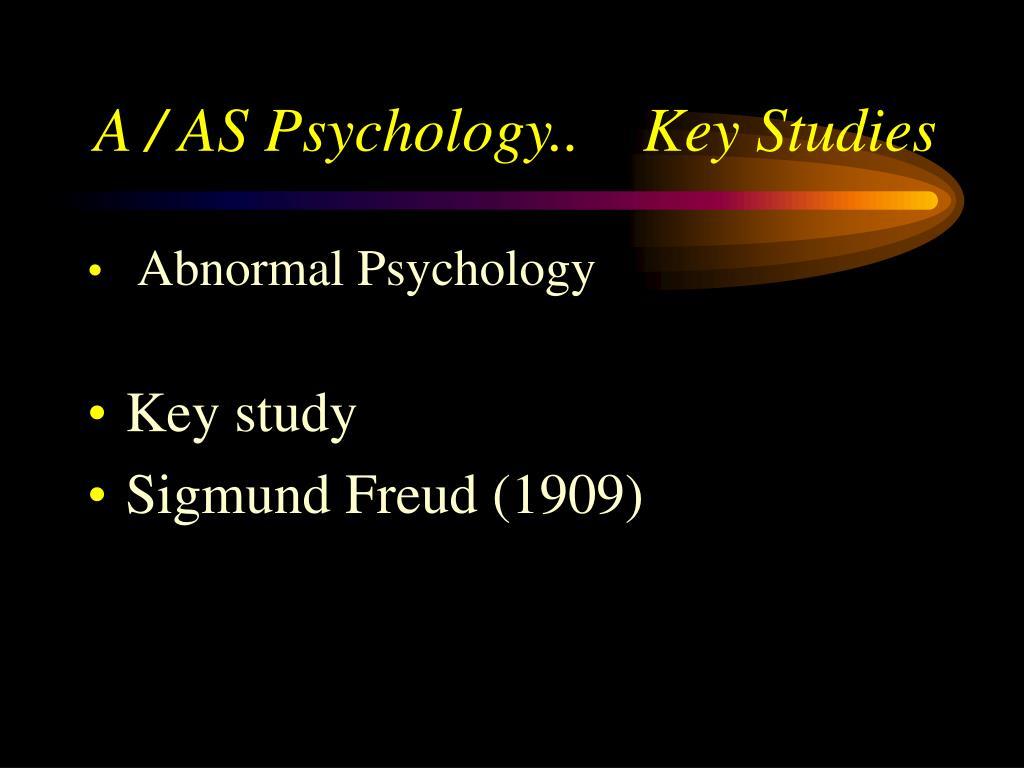 a as psychology key studies l.
