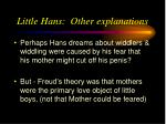 little hans other explanations