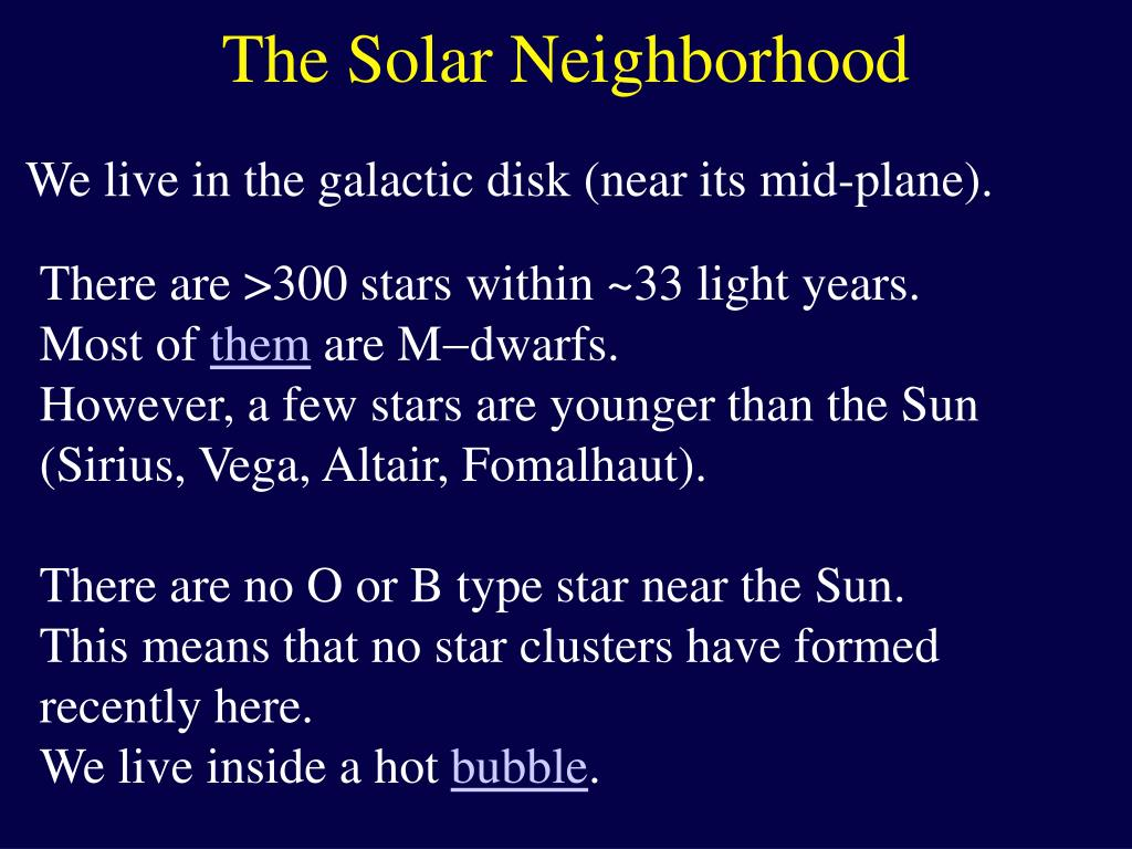 The Solar Neighborhood