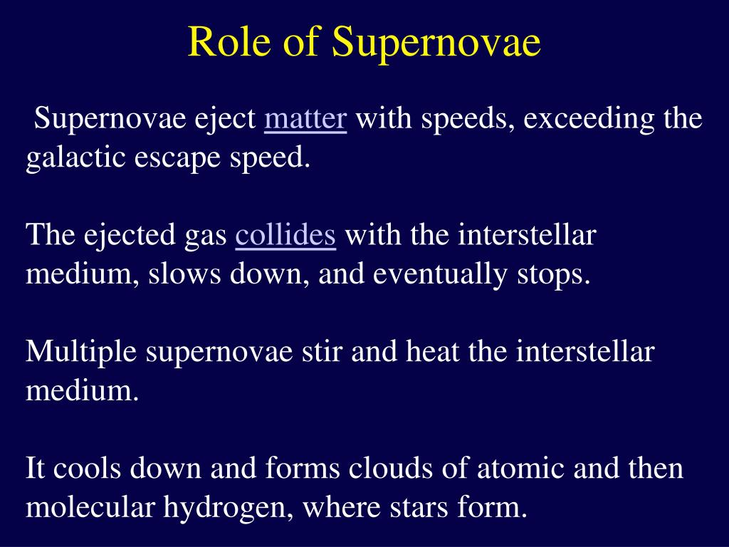 Role of Supernovae
