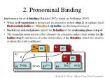 2 pronominal binding