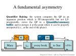 a fundamental asymmetry20