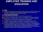 employee training and education