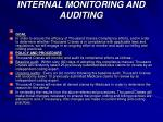 internal monitoring and auditing