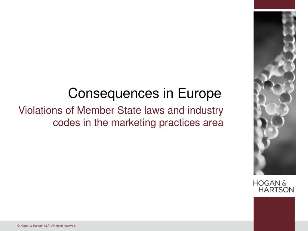 Consequences in Europe