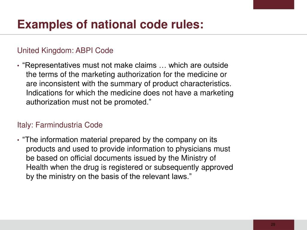 United Kingdom: ABPI Code