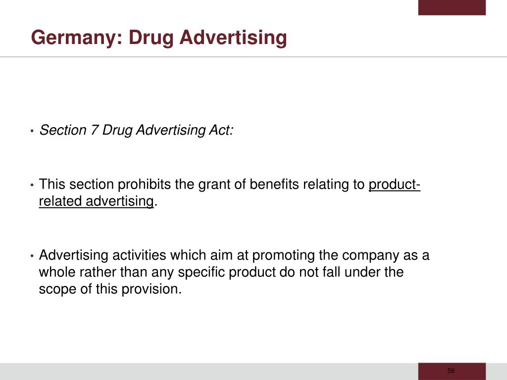 Germany: Drug Advertising