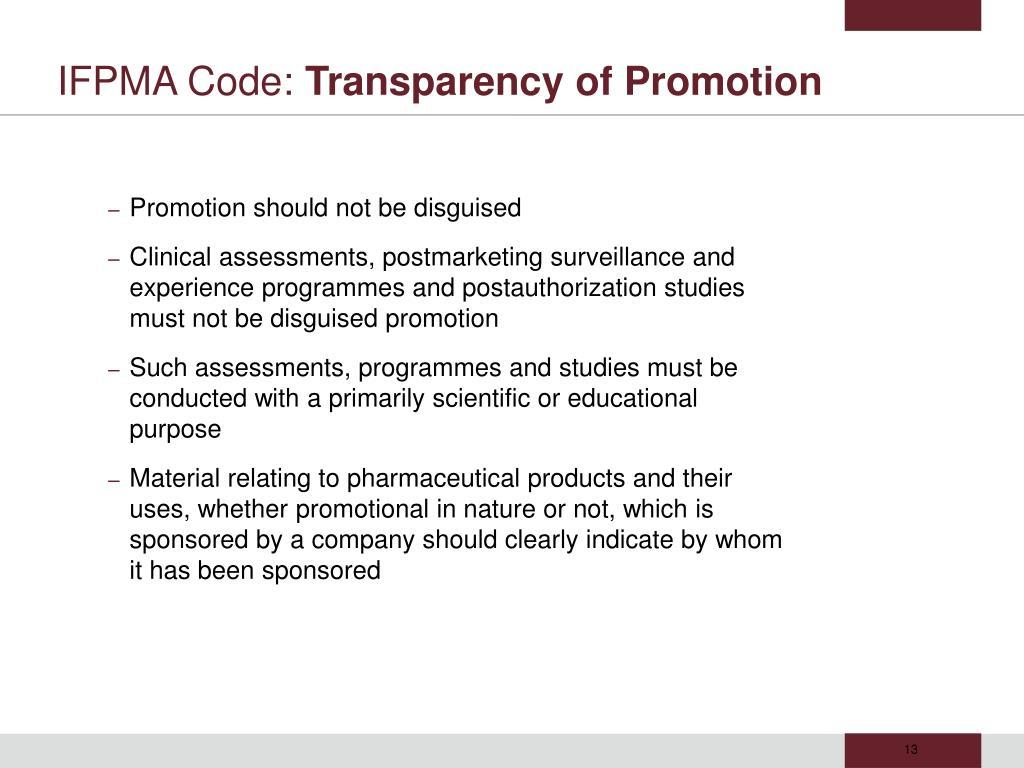 IFPMA Code: