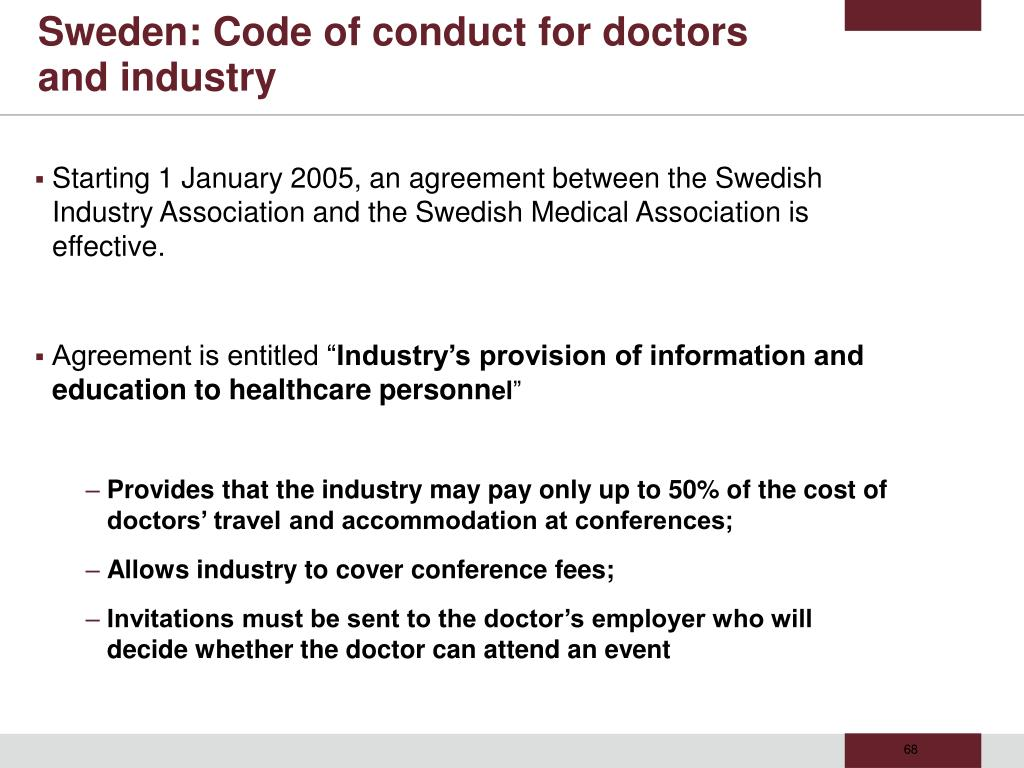 Sweden: Code of conduct for doctors